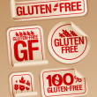 Stock Vector: Gluten free food stickers.