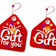 Gift labels. — Stock Vector