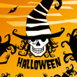 Stock Vector: Halloween background.