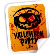 Stock Vector: Halloween party sticker