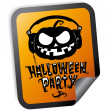 Halloween party sticker — Stock Vector #27591011