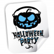 Halloween party sticker — Stock Vector #27591015