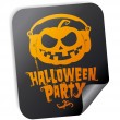 Halloween party sticker — Stock Vector