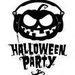 Stock Vector: Halloween party pumpkin
