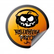 Halloween party sticker — Stock Vector #27591031