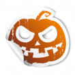 Stock Vector: Halloween sticker.
