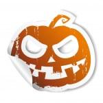 Halloween sticker. — Stock Vector