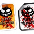 Happy Halloween stickers — Stock vektor