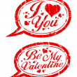 Valentines day stamps. — Vettoriale Stock