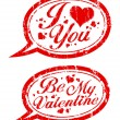 Valentines day stamps. — Vector de stock