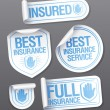 Insurance service stickers. — Stock Vector