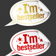 ストックベクタ: I am bestseller stickers.