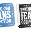 Stock Vector: New jeans collection stickers