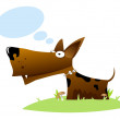 Stock Vector: Dog with idebubbles