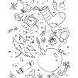 Xmas hand drawn symbols — Stock Vector #27591449