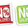 Stock Vector: No calories stickers.