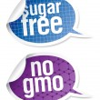 Sugar free and GMO free food stickers — Stock Vector #27591467
