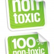 Stock Vector: Non toxic stickers.
