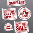 Stock Vector: Sample not for sale stickers.