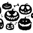 Vector de stock : Halloween pumpkins.