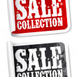 Sale collection stickers — Stock Vector