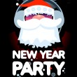 Stock Vector: New Year Party design template.