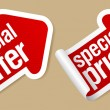 Vecteur: Special offer stickers.