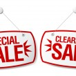 Stock Vector: Sale signs.