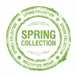 Stock Vector: Spring collection stamp