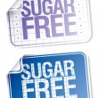 Labels for sugar free food — Stock Vector #27591757