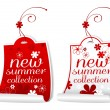 Stock Vector: Summer collection labels.