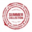 Stock Vector: Summer collection stamp