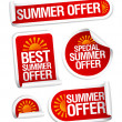 Summer offers stickers. — Imagen vectorial