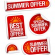 Summer offers stickers. — Stock Vector #27591777