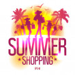 Summer shopping design template . — Stockvektor  #27591785