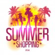 Stock Vector: Summer shopping design template .