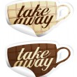 Take away stickers. — Vector de stock #27591803