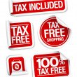 Stock Vector: Tax free shopping stickers.