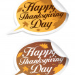 Happy Thanksgiving Day stickers. — Stock Vector