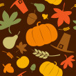 Autumn seamless background. — Imagen vectorial