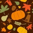 Autumn seamless background. — Stock Vector #27591849