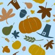 Stock Vector: Autumn seamless background.