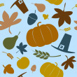 Autumn seamless background. — Stock Vector #27591851