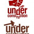 Under construction signs. — Imagen vectorial