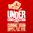 Under construction design. — Stock Vector