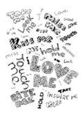 Valentine's hand drawn text elements — Stockvektor