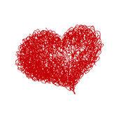 Hand dras hjärta — Stockvektor