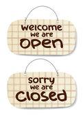 Sinais abertos e fechados — Vetorial Stock