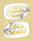 Stickers from Santa — Stock Vector