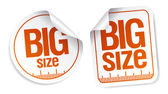 Big size stickers — Vector de stock